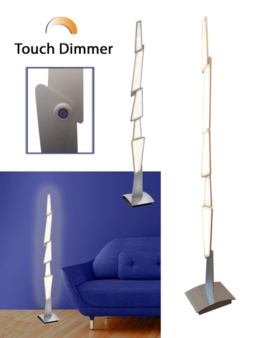 LED-Stehleuchte Spacy Touch Dimmer ausgefallenes Design