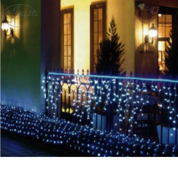 led lichtervorhang weihnachten beleuchtung f r hausfassade ip54 lichterkette f r au en saasil. Black Bedroom Furniture Sets. Home Design Ideas